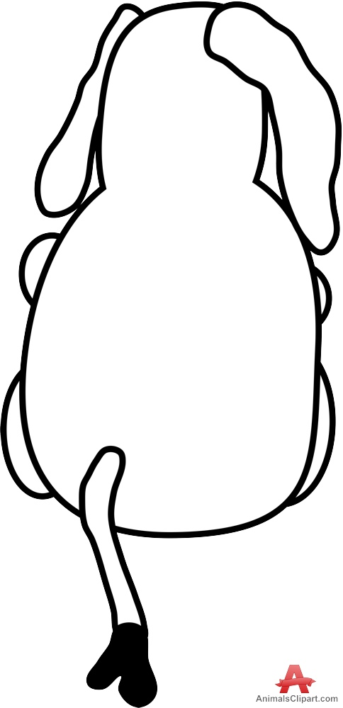 484x999 Sitting Elephant From The Back Outline Free Clipart Design Download