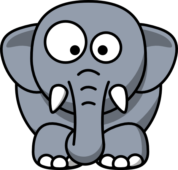 600x573 Baby Elephant Clipart Outline Free Images 5