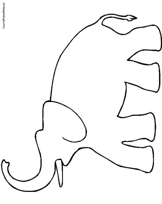 564x710 Best Elephant Outline Ideas Easy Elephant