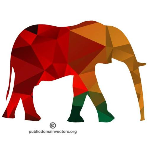 500x500 Elephant Silhouette Clip Art Graphics Public Domain Vectors