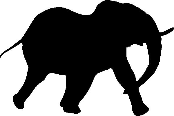 600x401 Elephant Silhouette Clip Art