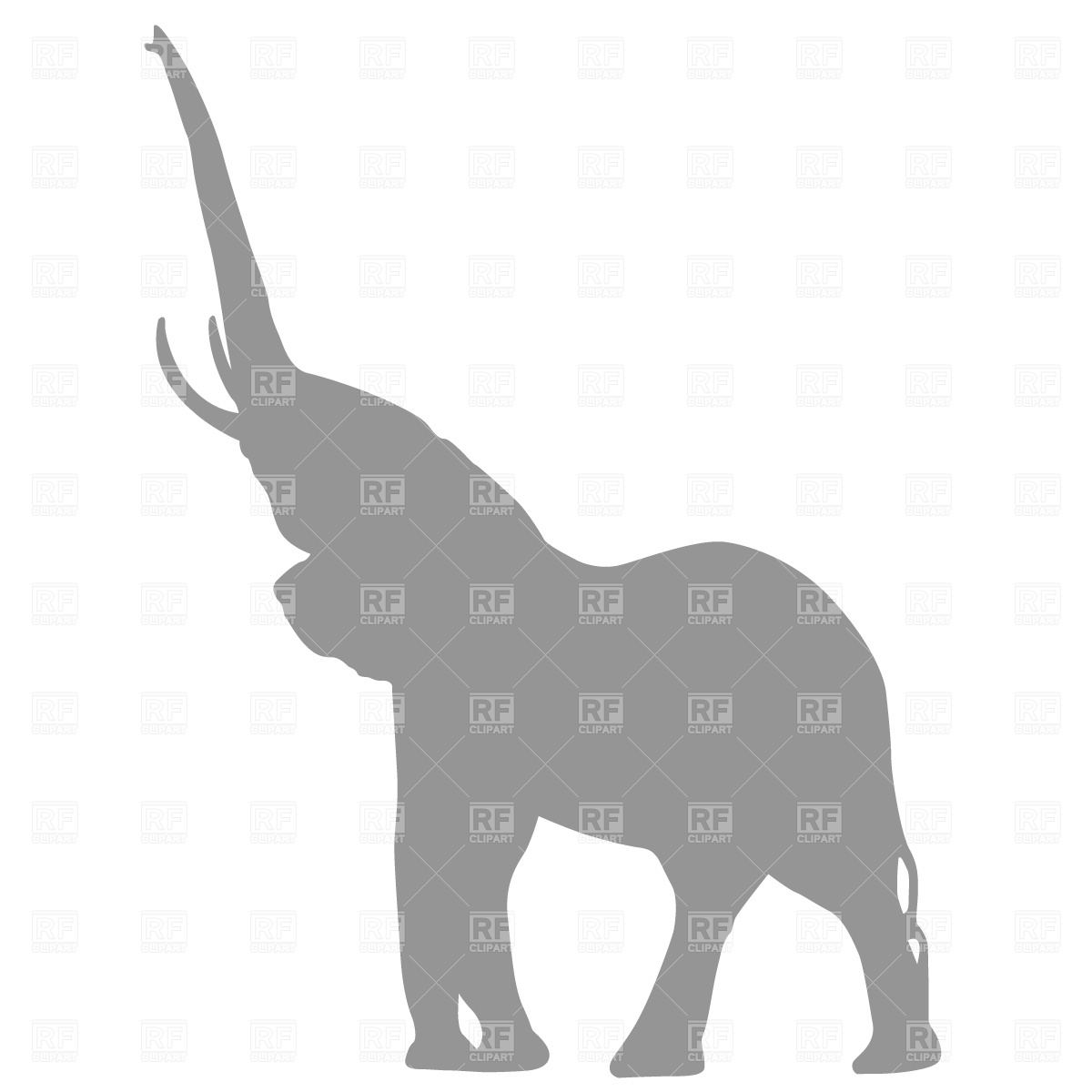1200x1200 Elephant Silhouette Royalty Free Vector Clip Art Image