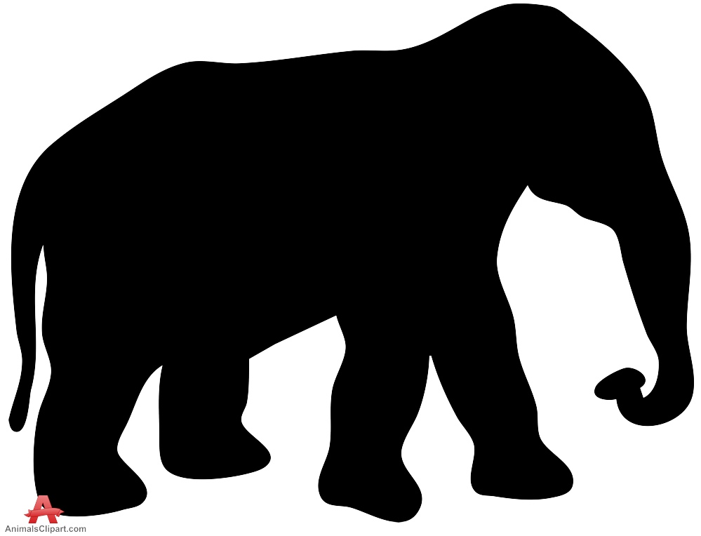 999x764 Shadow Clipart Elephant