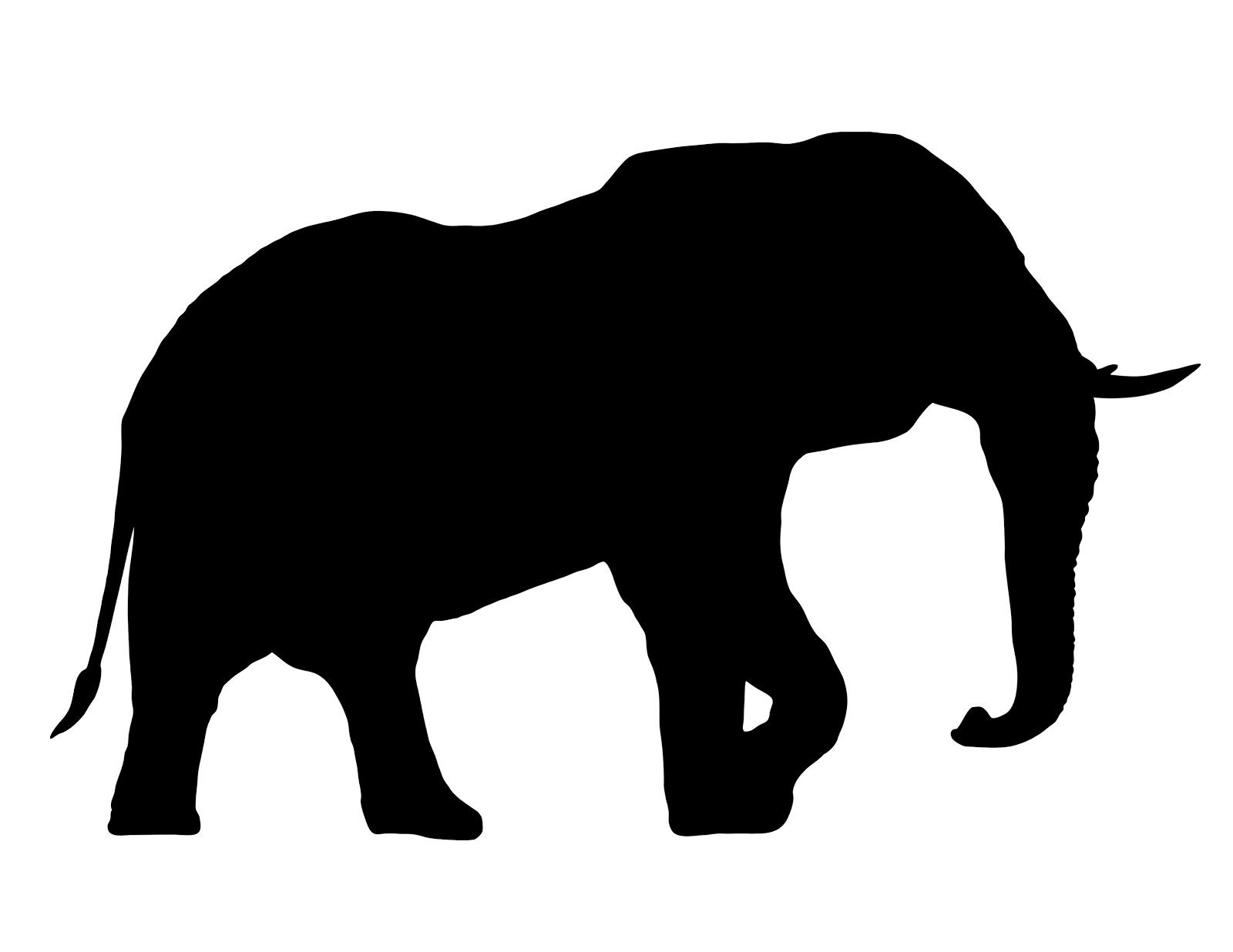 1600x1236 Silhouette Elephant Clipart