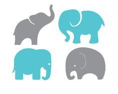 236x187 Baby Elephants Set Svg Dxf File Instant Download Stencil