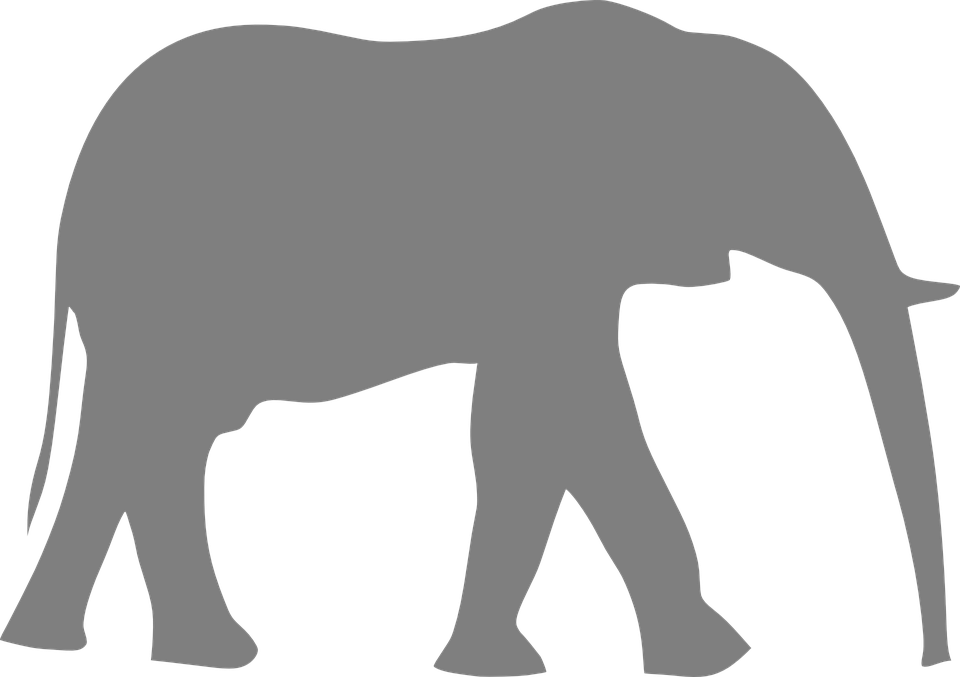 960x677 Elephant Silhouette Clipart Transparant Background