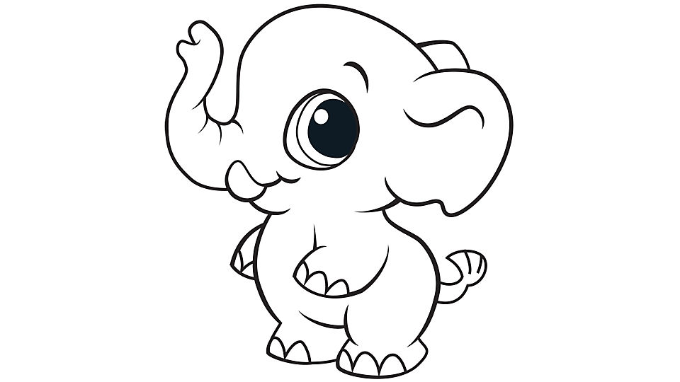 960x540 Breathtaking Elephant Coloring Pages 72 On Coloring Print