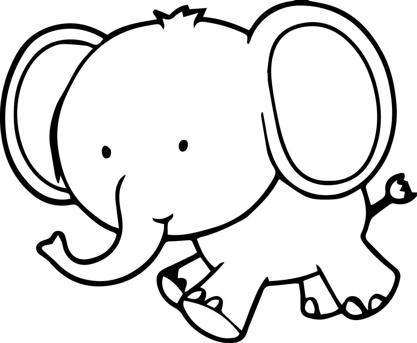 1334x1095 Download Coloring Pages. Elephant Coloring Page Elephant Coloring