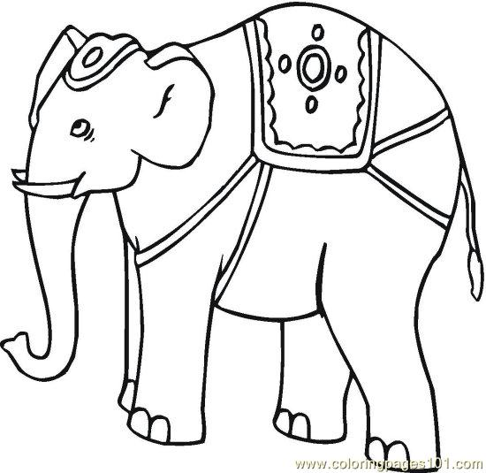 550x535 Drawn Asian Elephant Coloring Page