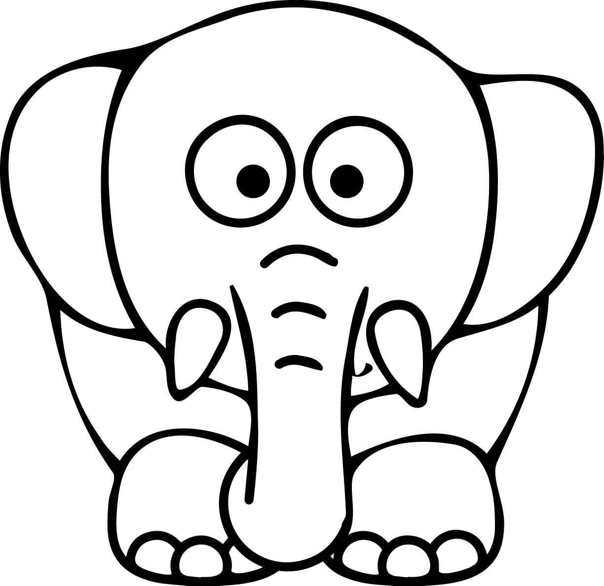 Elephant Coloring Pages | Free download best Elephant Coloring Pages ...