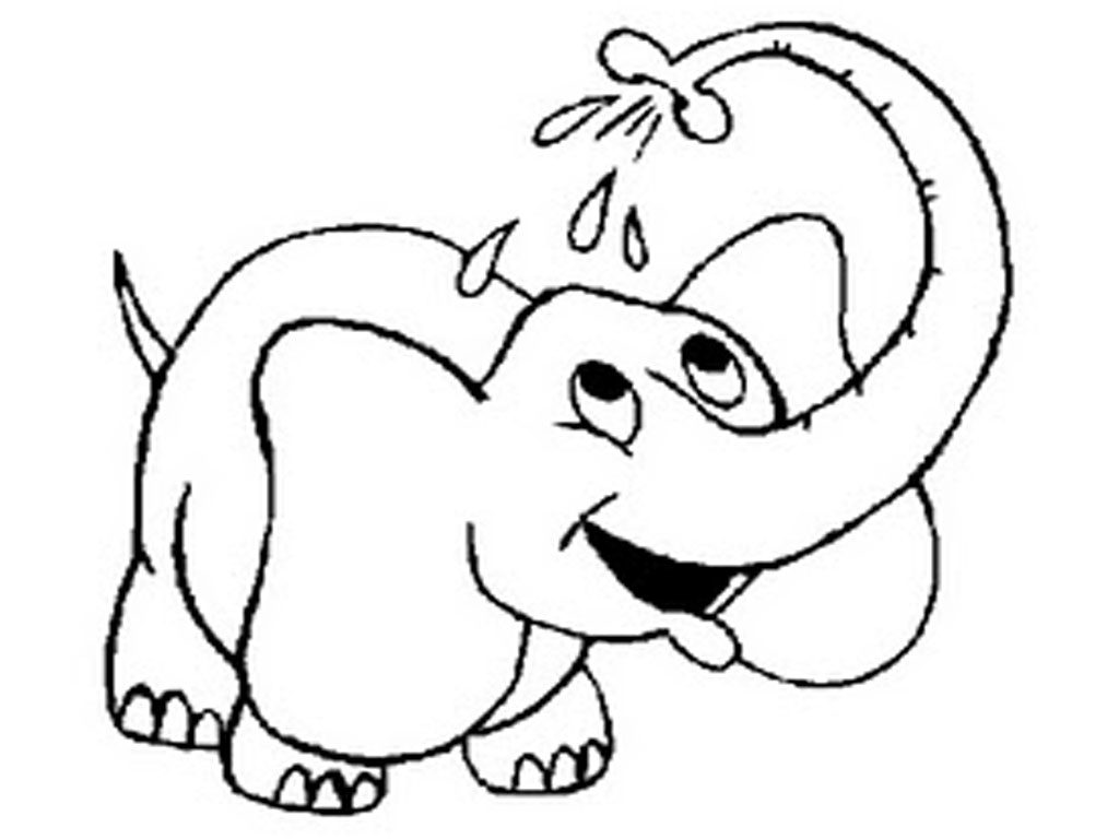 1024x768 Free Printable Elephant Coloring Pages For Kids Pictures