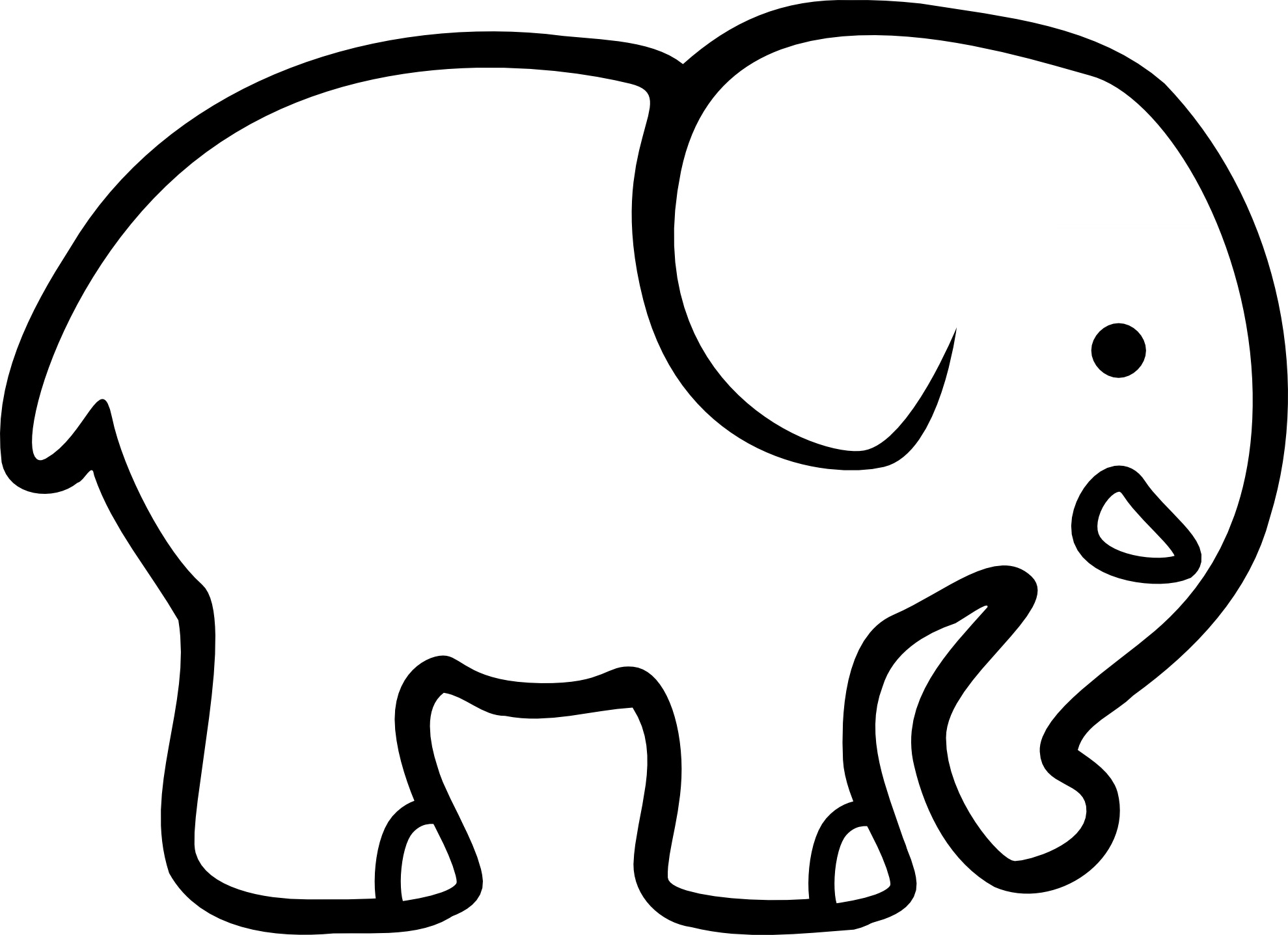 1979x1437 Free Printable Elephant Good Elephant Coloring Pages
