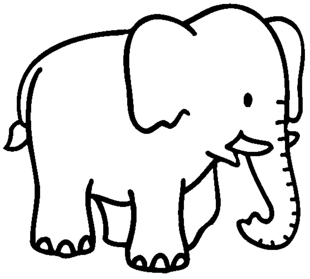 1000x900 Elephant Coloring Pages
