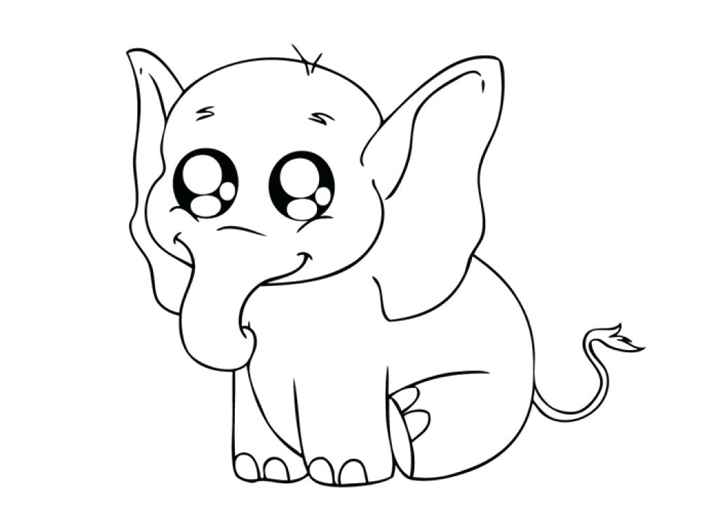 1024x731 Baby Elephant Coloring Pages Baby Elephant Coloring Pages For Kids