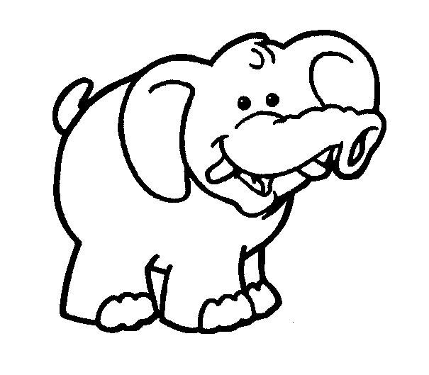 605x529 Baby Elephant Coloring Pages For Kids 8999,
