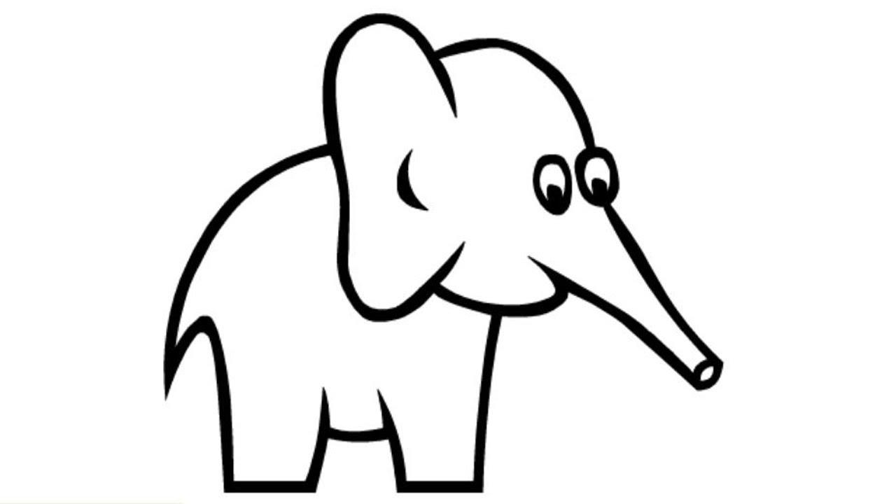 1280x720 How To Draw A Elephant