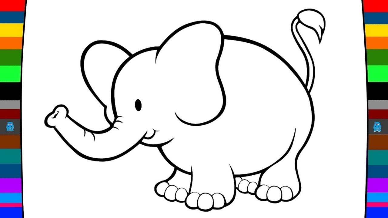 1280x720 Animal Coloring Pages How To Draw A Elephant Drawing