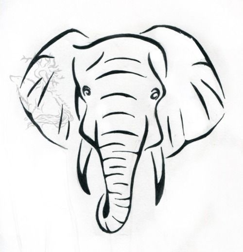 500x519 Coloring Pages Extraordinary Easy Elephant Drawing Coloring