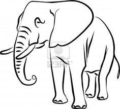 236x215 Easy Elephant Coloring Page Elephants Coloring Book