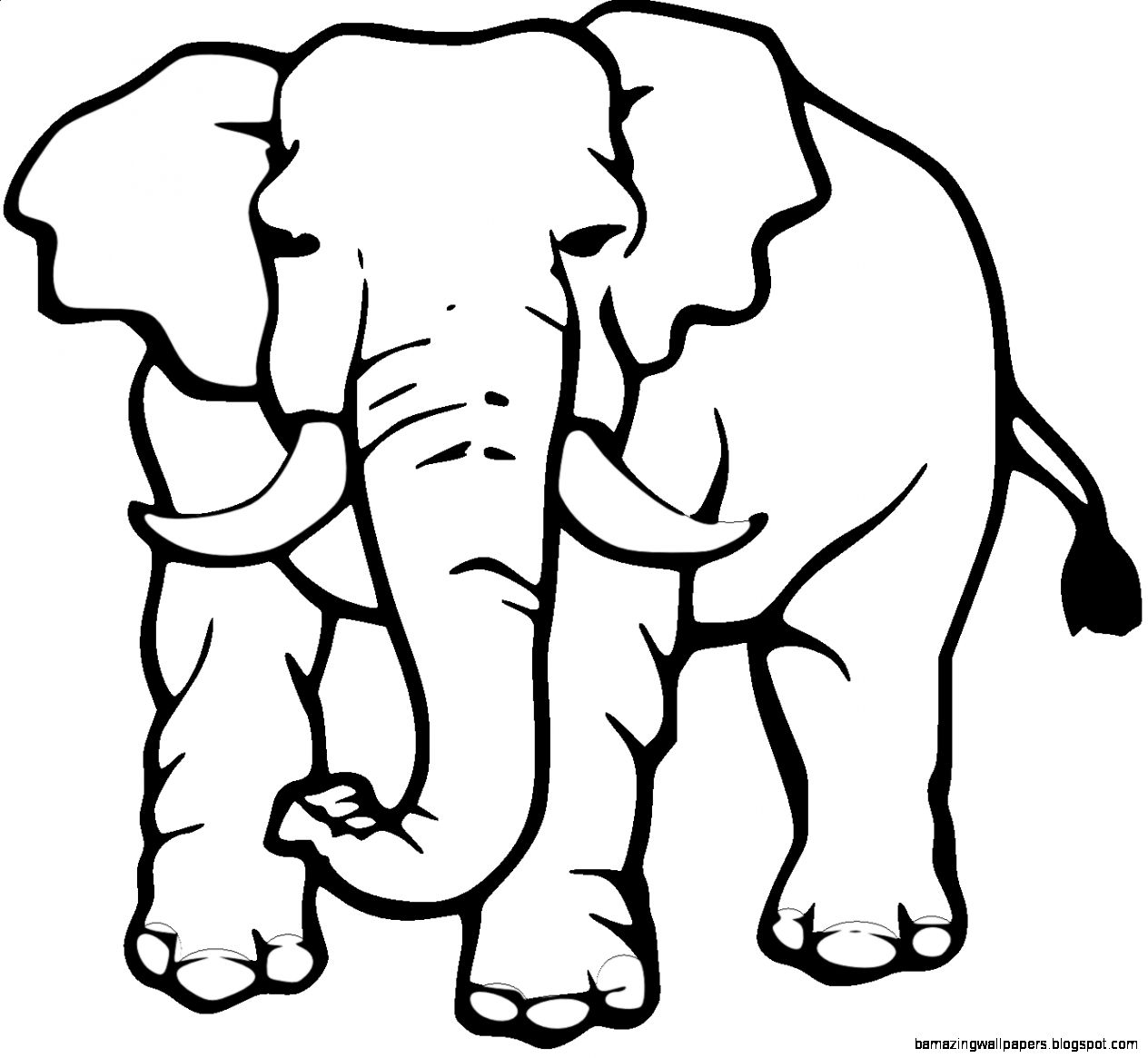 1264x1165 Image Of Elephant Clipart Black And White