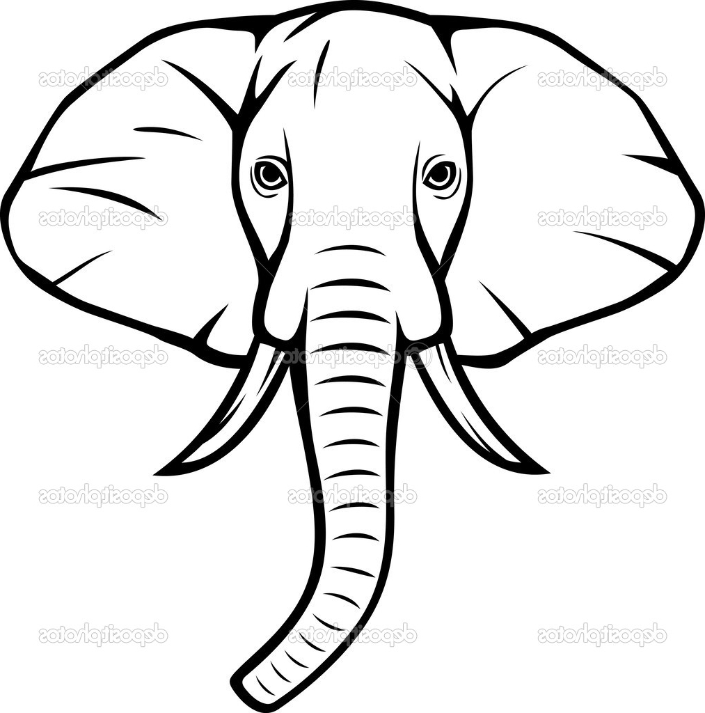 1013x1024 Indian Elephant Face Drawing Hand Drawn Elephant Head. Indian God
