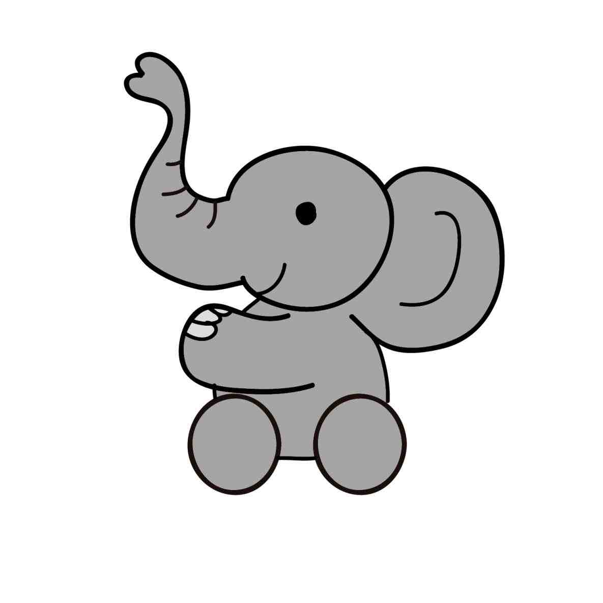 1185x1185 Cute Drawings Of Baby Elephants