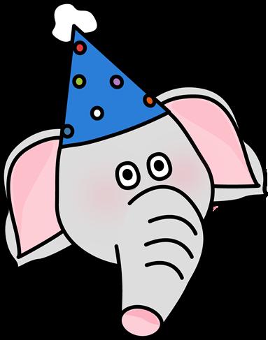 383x487 Circus Elephant Face Clip Art