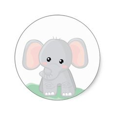 236x236 Clipart Of Baby Elephant
