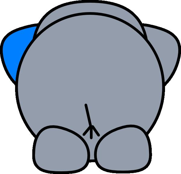 600x575 Elephant Butt Clip Art