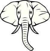 168x170 Elephant Head Clip Art