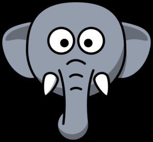 300x279 Elephant Head Clip Art