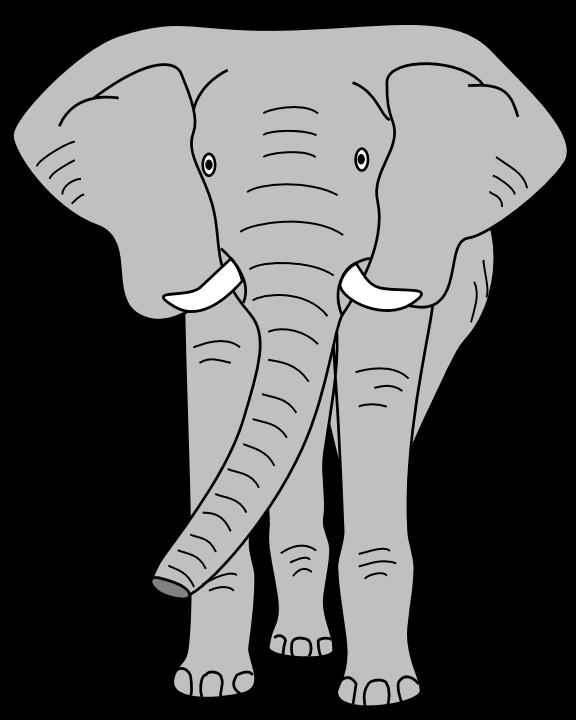 576x720 Elephant Head Clipart