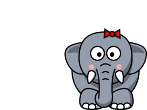 300x225 Girl Elephant Clip Art