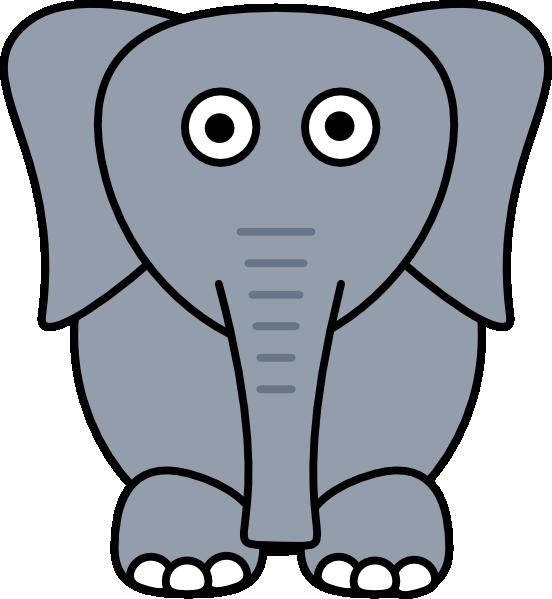 552x599 Larger Clipart Elephant Cartoon