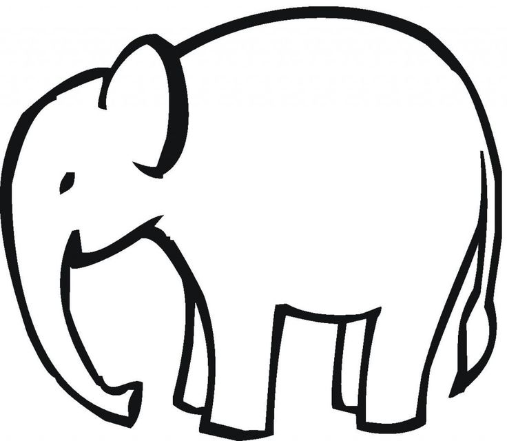 736x640 Baby Elephant Head Clipart Black And White