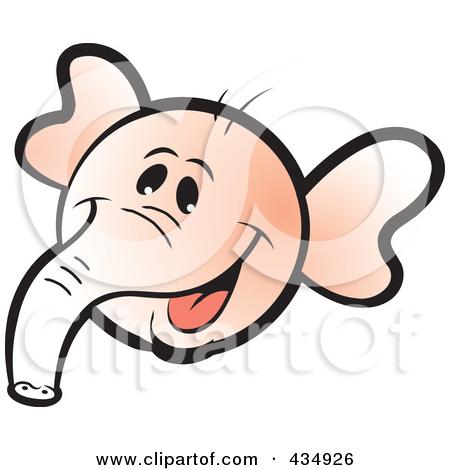 450x470 Clipart Of Elephant Face