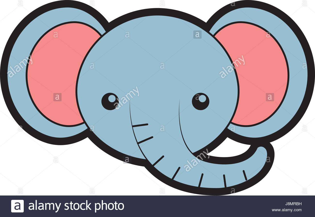 1300x898 Cute Elephant Face Cartoon Stock Vector Art Amp Illustration, Vector