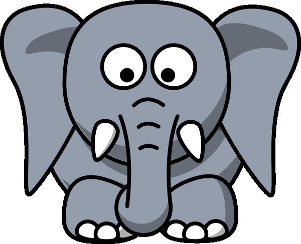 600x487 Cartoon Elephant Clip Art