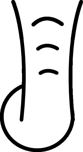 324x594 Cartoon Elephant Trunk Clip Art