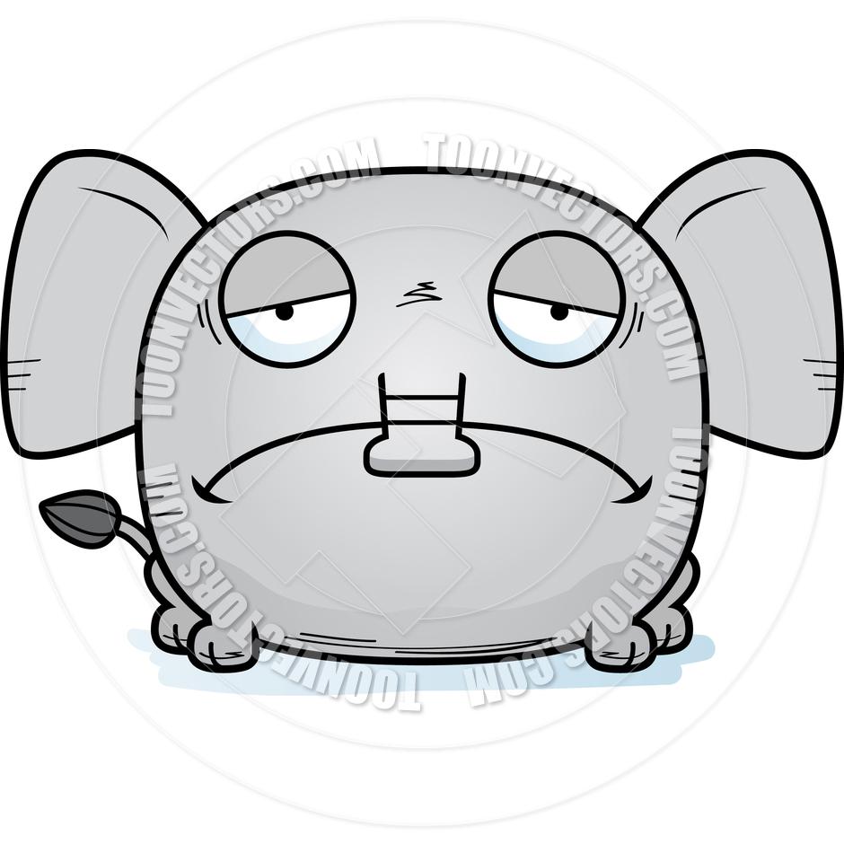 940x940 Cartoon Little Elephant Sad By Cory Thoman Toon Vectors Eps