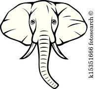 193x179 Elephant Head Clip Art And Illustration. 1,791 Elephant Head