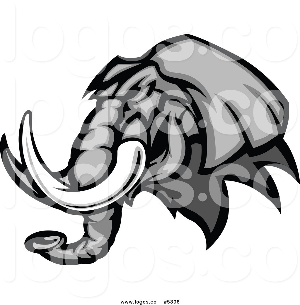 Wildlife Animals Graphic Mascot Vector Image Of A Elephant Head