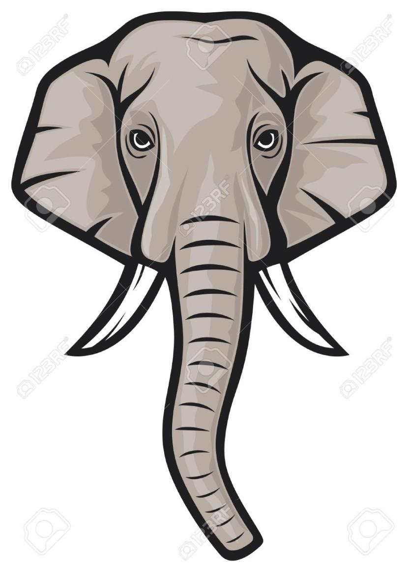 830x1164 Trunk Clipart Elephant Head