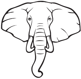 Elephant Head Outline Free Download Best Elephant Head Outline On