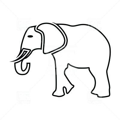 400x400 Outline Of Elephant Cool Black Outline Mandala Elephant Tattoo