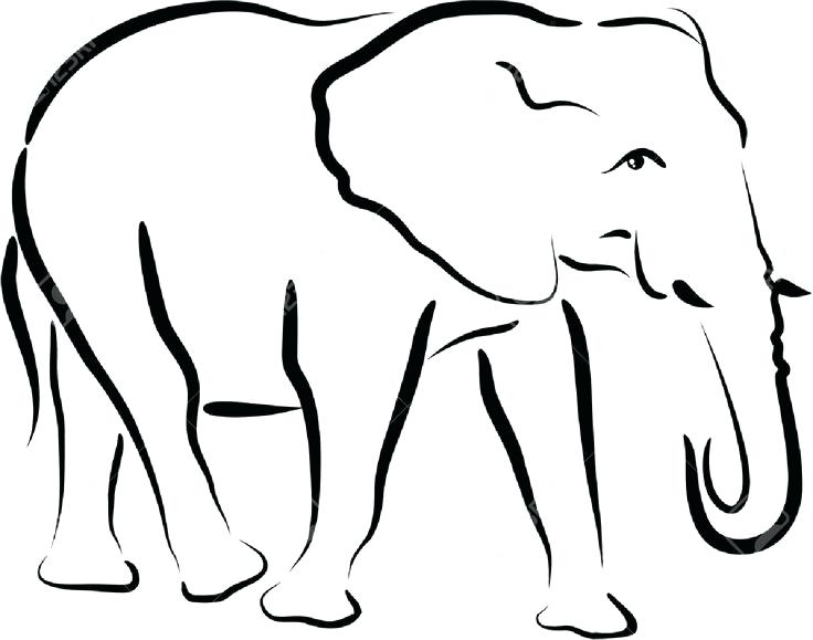 736x579 Simple Elephant Outline Cute Little Elephant Tattoo Simple