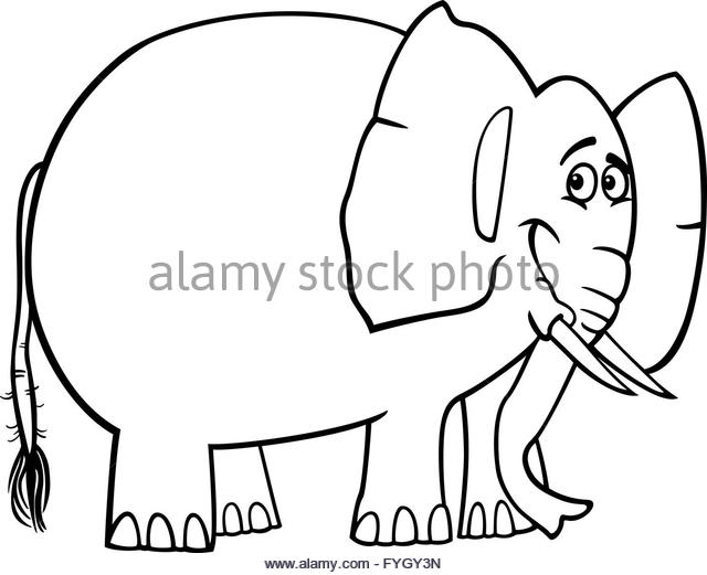 640x521 Black White Happy Cartoon Elephant Stock Photos Amp Black White