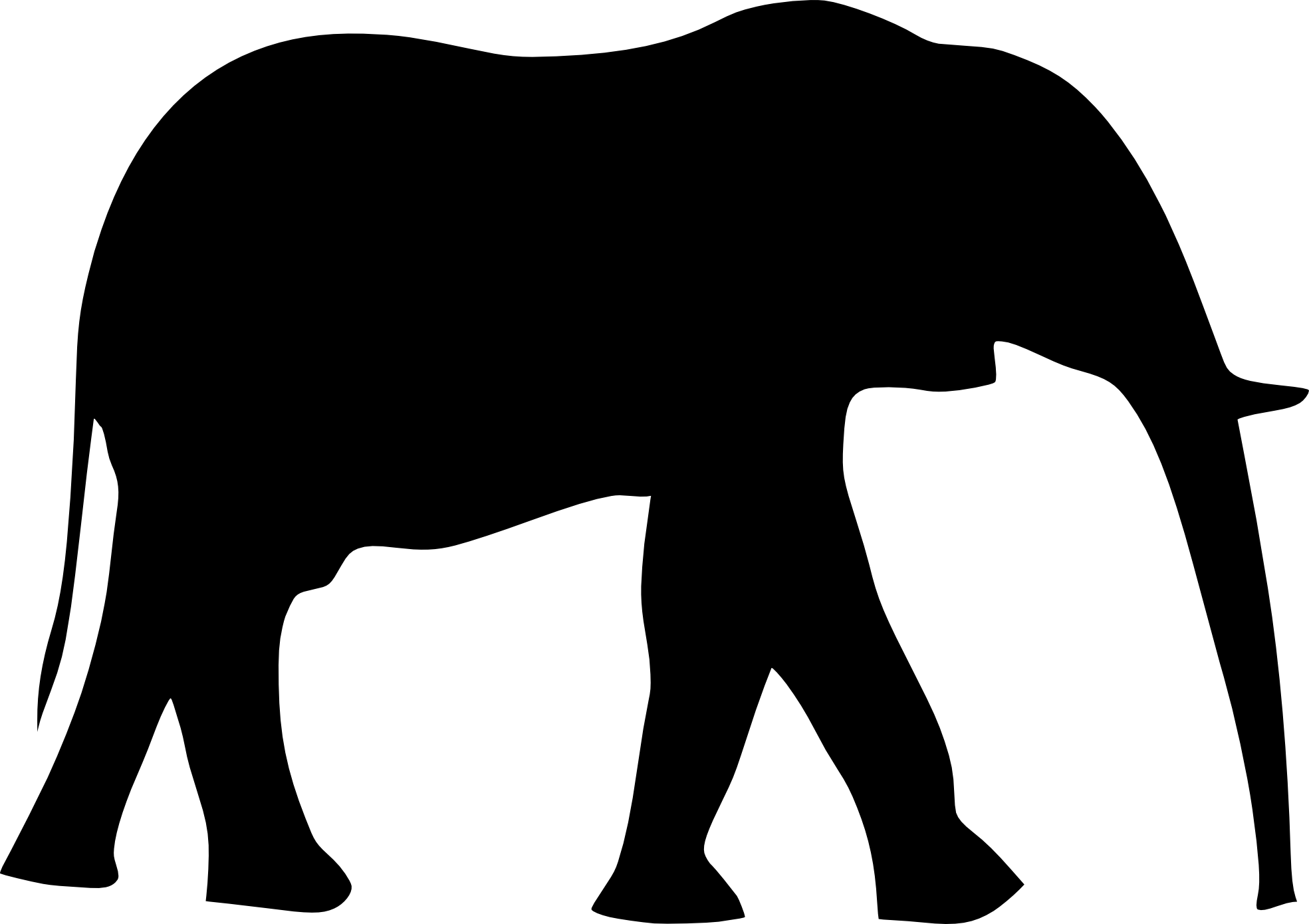 1969x1390 Elephant Clip Art Black And White Clipart Panda