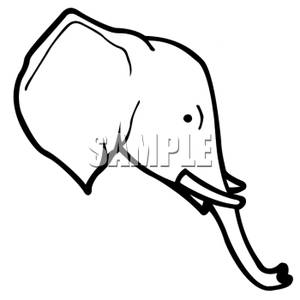 300x300 And White Elephant Head Clipart Image