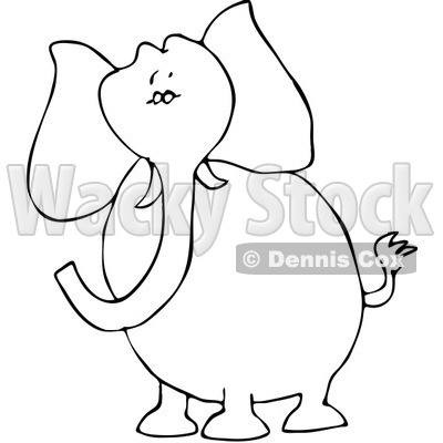 400x400 Gallery Haircuts Ideas Black And White Elephant Clip Art